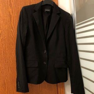 CLUB MONACO | black fitted wool blazer